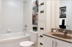 #Tannery #Lofts #Toronto Loft Bathroom, Bathrooms, Lofts, Alcove, Toronto, Bathtub, Loft Room, Standing Bath, Loft