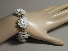 Vintage plastic filigree bracelet