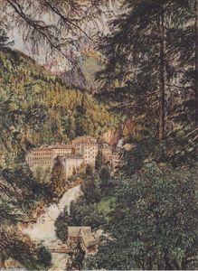 Rudolf Von Alt - Blick auf Bad Gastein