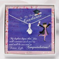 To My Graduate, Graduate Gift, Personalized Graduation gift, High Scho – ShineOn High School Graduation, Graduate School, Personalized Graduation Gifts, Graduation Necklace, Allure Beauty, Senior Gifts, High Hopes, Ribbon Design, Crafts