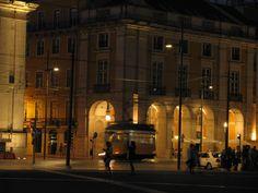 Cruzamento da Rua da Prata com o Terreiro do Paço Sidewalk, Lisbon, Street, City, Architecture