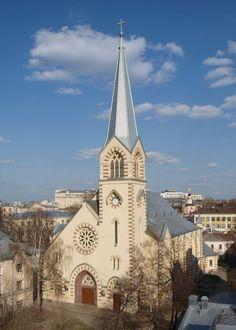 Москва,  Старосадский  пер. Собор свв. Петра и Павла (современный вид),  восстановленный  в  1988.
