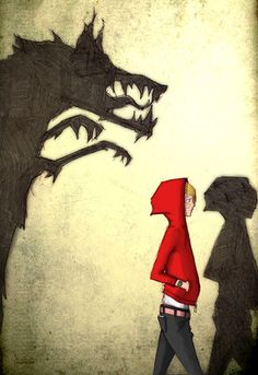 """Phil Longson """"Hey there Little Red Riding Hood, you sure are lookin' good. You're everything a Big Bad Wolf could want. Little Red Ridding Hood, Red Riding Hood, Illustration Inspiration, Illustration Art, Charles Perrault, Art Manga, Big Bad Wolf, Fairytale Art, The Villain"""