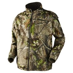 This Men's 2-way waterproof zip front Realtree camo jacket is equipped with, radio pocket, sleeve pocket, adjustable lower hem, detachable and adjustable hood, velcro fastening in sleeves. Camo Jacket, Motorcycle Jacket, Bomber Jacket, Realtree Camo, Hunting Clothes, Outdoor Gear, Camouflage, Winter Jackets, Zip
