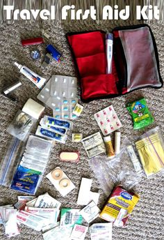 Packing list for both a very basic and a very complete first aid kit for travelers in Costa Rica. Includes some non-first aid items that belong in the kit. Travelling Tips, Packing Tips For Travel, Travel Advice, Travel Essentials, Packing Hacks, Travel Necessities, Vacation Packing, Packing Lists, Packing Outfits