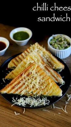 chilli cheese sandwich recipe, cheese chilli toast sandwich recipe with step by step photo/video. popular street food sandwich recipe from cheese & capsicum Grill Sandwich, Grilled Sandwich Recipe, Vegetarian Sandwich Recipes, Cheese Sandwich Recipes, Veg Recipes, Spicy Recipes, Chicken Sandwich, Simple Sandwich Recipes, Toast Sandwich