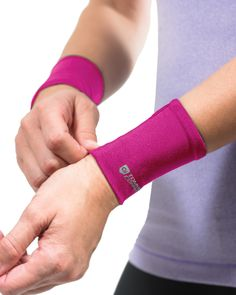 Tommie Copper Wrist Sleeve in Pink. Order today www.tommiecopper.com