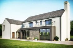Mullan Chartered Architects work hand in hand with our clients and contractors to produce outstanding buildings, ranging from small domestic extensions, alterations and bespoke dwellings to large scale commercial and private developments. Modern Bungalow House, Rural House, Modern House Design, Dormer Bungalow, House Designs Ireland, Cottage Renovation, Exterior Remodel, House Extensions, Architect Design
