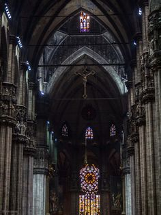 Like the floating clouds and flowing streams: Crossing: Cathedral of Santa Maria Nascente, Milan...