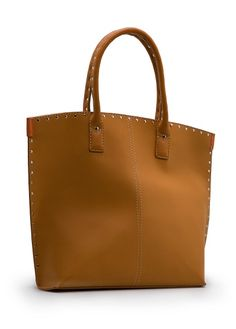 Metallic rivets tote bag