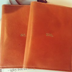 Mr & Mrs passport cases for the honeymoon
