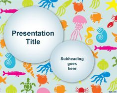 Colorful Sea Species PowerPoint Template is a free original PowerPoint template background that you can download to make presentations on sea species and related presentations in Microsoft PowerPoint