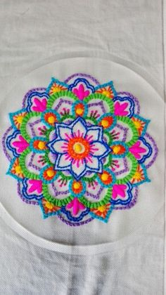 Mexican Embroidery, Learn Embroidery, Embroidery Jewelry, Embroidery Stitches, Embroidery Patterns, Chevron Crochet Patterns, Embroidery Neck Designs, Needlework, Cross Stitch