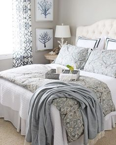 "Birch Lane on Instagram: ""Who else would love to stay in this serene guest bedroom? Blogger @settingforfour believes that layering is one of the most important aspects when designing a room to ensure that guests are pampered in style- we couldn't agree more. Head to the link in our profile to recreate this look. #guestbedroom #design #birchlane"""