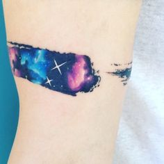 Brush galaxy #tattoo #tatuaje #colors #galaxy #galaxia #ab #space #brush