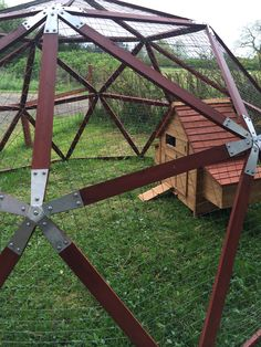 A Geodesic Hen / Chicken Coup From Domemade