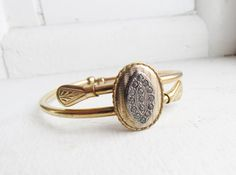 Victorian Clamper Bracelet with Paste Stones by LUXXORVintage, $135.00