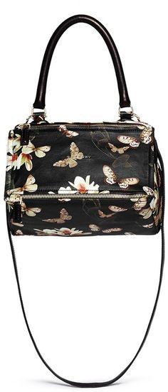 e79f1699c2 GIVENCHY  Pandora  small magnolia and moth print leather bag