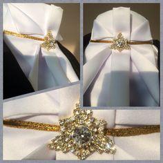 Driedaagse stock Origami in gold handmade by Glamourhorze