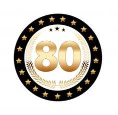 Leuk voor een 80ste verjaardag, 25 stuks Luxe Bierviltjes met 80 jaar opdruk. Zwart met goudkleurige uitvoering en dubbelzijdig bedrukt.