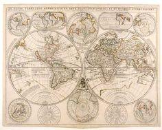 Le Globe Terrestre Represent?? En Deux Plans-Hemispheres Et En Diverses Autres Figures, Engraving, Vincenzo Maria (1650-1718) and Jean-Nicolas de TRALAGE (c.1540-1620) CORONELLI ($8,500)