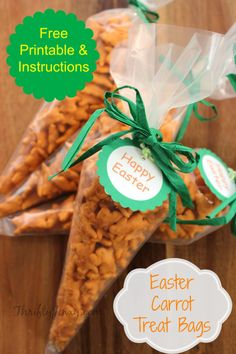 Easter Carrot Treat Bags with Free Printable Tags - Thrifty Jinxy