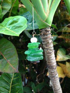 Hawaiian Sea Glass Christmas Tree Ornament by MaraMadeHawaii