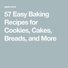 57 Easy Baking Recipes for Cookies, Cakes, Breads, and More Easy Baking Recipes, Baking Ideas, Yummy Recipes, Cookie Recipes, No Bake Desserts, Just Desserts, Delicious Desserts, Dessert Recipes, Pressure Cooker Desserts