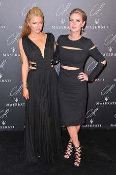 Paris Hilton and Nicky Hilton attend the CR Fashion Book Issue No.5 Launch Party hosted by Carine Roitfeld and Stephen Gan at The Peninsula Paris on September 30, 2014 in Paris, France. (Photo by Kristy Sparow WireImage)