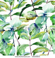 Floral seamless pattern, watercolor illustration  by Regina Jershova, via Shutterstock