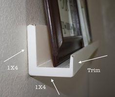 DIY Photo Shelves