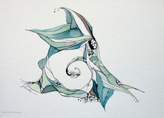 An Intricate Energy ~ Original Ink and Watercolor by Shell Rummel ©Michelle Rummel