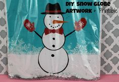 First Time Mom and Losing It: DIY Kids Snow Globe Artwork + Printable