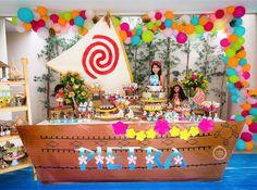 Festa Moana muito linda! Estou adorando as festas nesse tema. Por @joaoemariafestas 🌺💦#kikidsparty ...