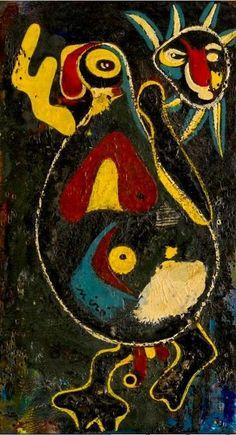 Joan Miró - Personnage - Oiseau et Soleil, 1936