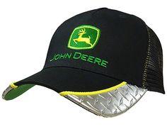 John Deere Diamond Plate Mesh Back Hat Black