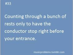 We would be able to play if the violins didn't mess up<<<< NOT ALL VIOLINS MESS UP ITS USUALLY THE VIOLIAS AND SECONDS