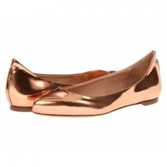 McQ by Alexander McQueen - Patent Leather Pointed Toe Flat Shoes Blush Metallic - $276.60 (40% off)
