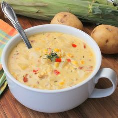 This farm to table farm fresh corn chowder is the real deal. So good and bursting with flavor. Amazing!