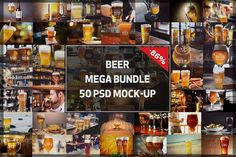 Mega Bundle! - 50 Beer Mock-up by vraiana on @creativemarket