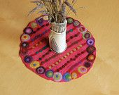 pink grapefruit dotted mini table runner