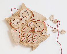 Ollie Bird! Solid Wood Sewing Puzzle