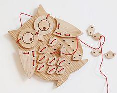 Bird Ollie !™ Puzzle couture bois massif