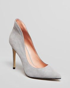 Enzo Angiolini Pointed Toe Hooded Pumps - Fayson