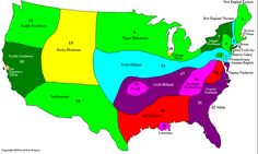 What dialect do you speak? A map of American English.  I speak 1 & 2 fluently & effortlessly and get teased about it most days of the year!   :-)