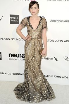 Emma Roberts in @OscarPRGirl at the Elton John Oscars after-party