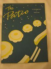 Vtg Travers Island Patio Restaurant Coffee Shop Diner Menu New York City 1950's