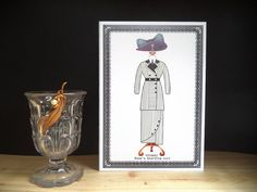 Titanic gown card,  Rose boarding suit ,Thank you card  Birthday card