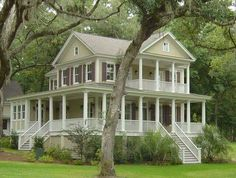 Love This Beautiful Wrap Around Porch.