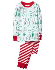 4553aea97 HoHoHo 2-Piece Gymmies Cute Christmas Pajamas, Boys Pjs, Baby Boy Pajamas,
